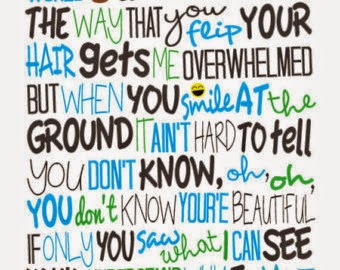 letra de you are beatiful de james: