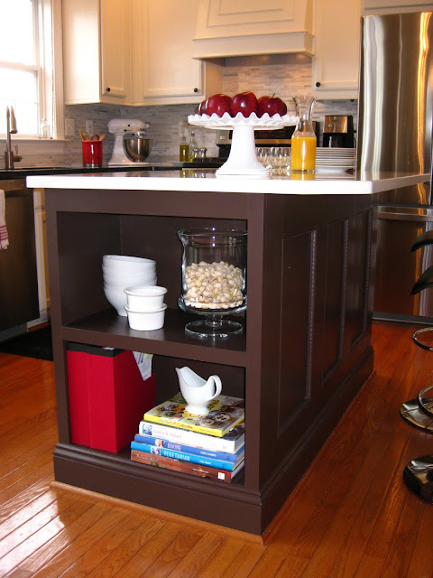 from builder's grade to beauty - kitchen island makeover