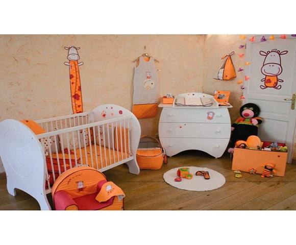 Beautiful Orange Chambre Bebe Contemporary - Home Decorating Ideas ...