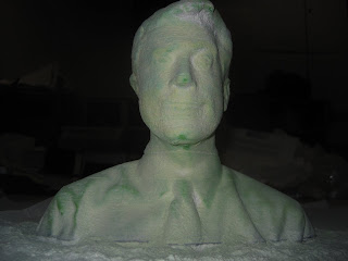 Stephen Colbert bust, 3D printed on a ZCorp Z402 at Freeside Atlanta