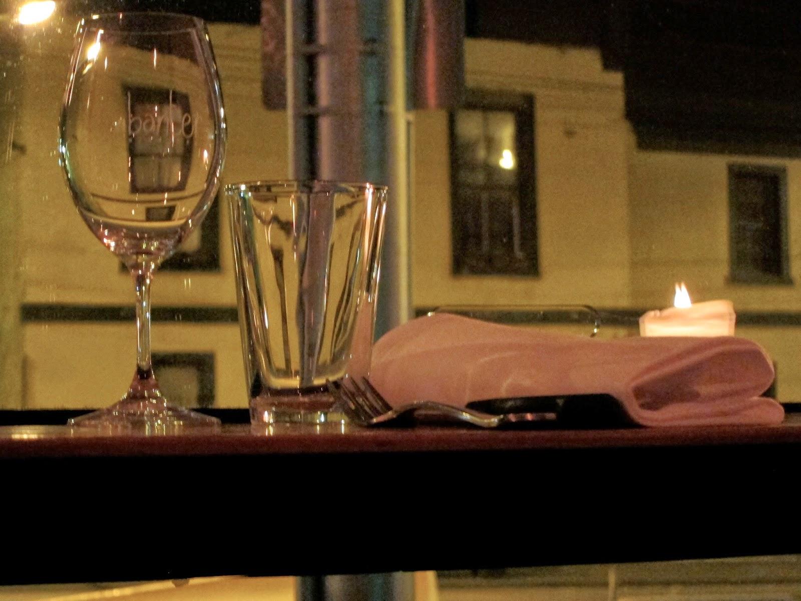 banter wine bar window view