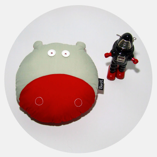 HYPE the hippo pillow by BERTH handmade