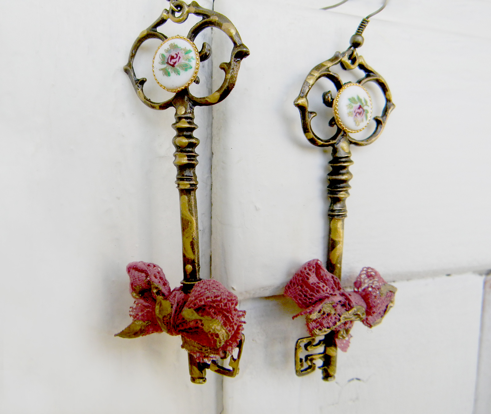Vintage Key Handmade Earrings