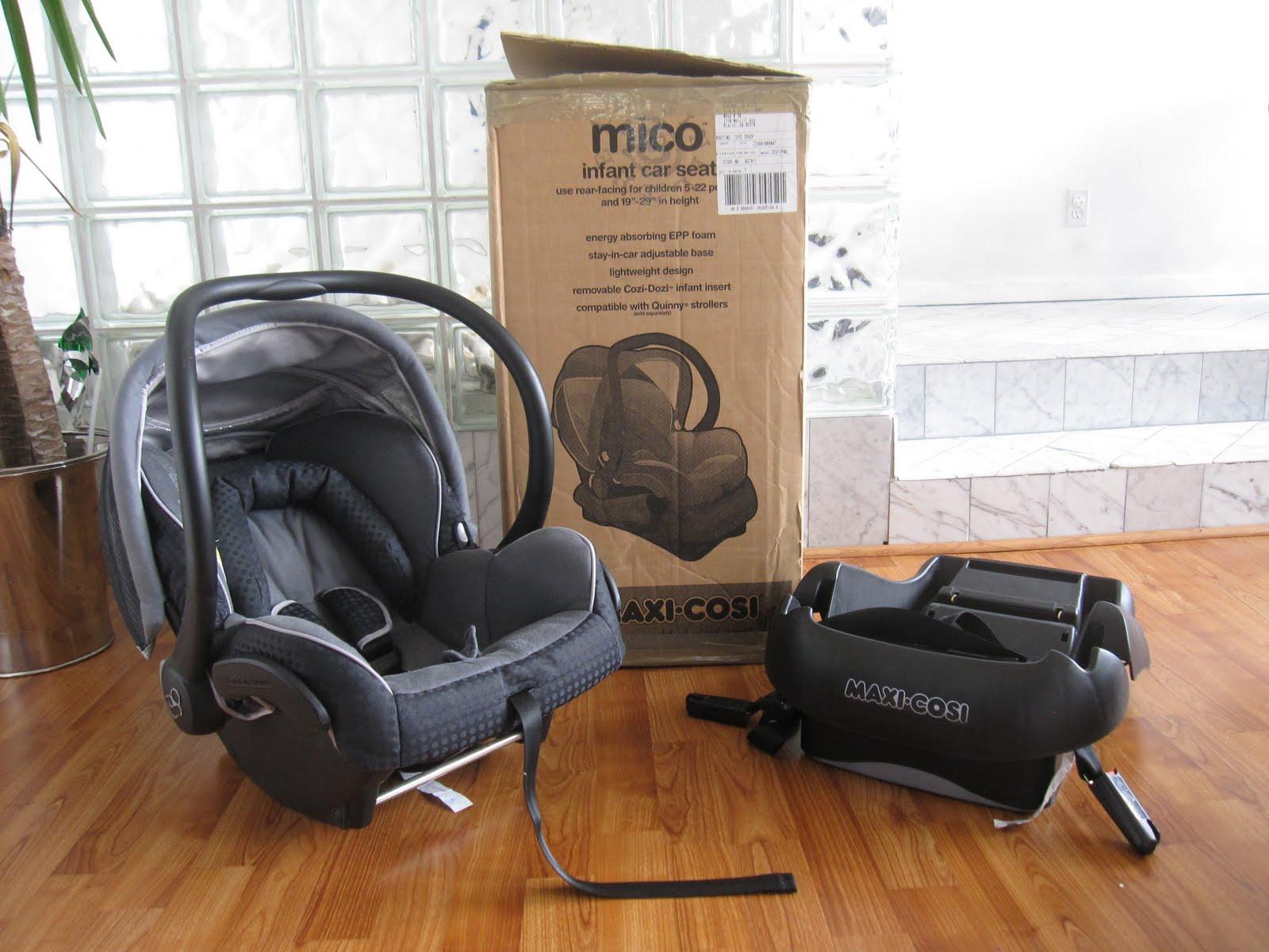 MAXI COSI MICO INFANT CAR SEAT TOTAL BLACK