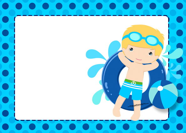 swimming party invitations free printable