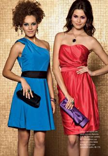 Vestidos de NocheVieja 2012 rojo y azul
