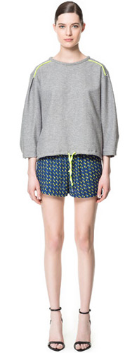 short estampado de Zara