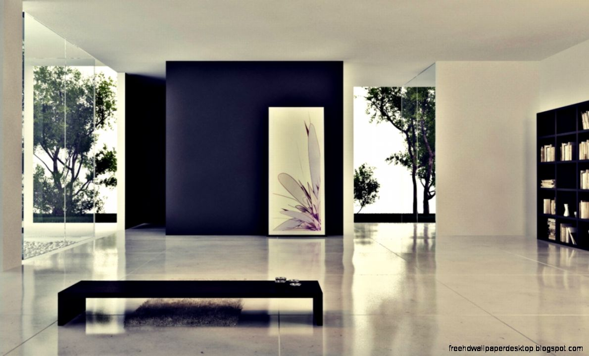 Minimalist interior room style design hd wallpaper free for Minimalist house wallpaper