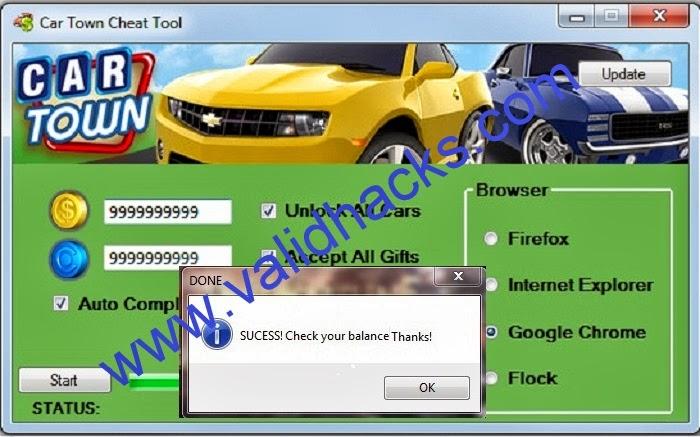 Download generator hack car town
