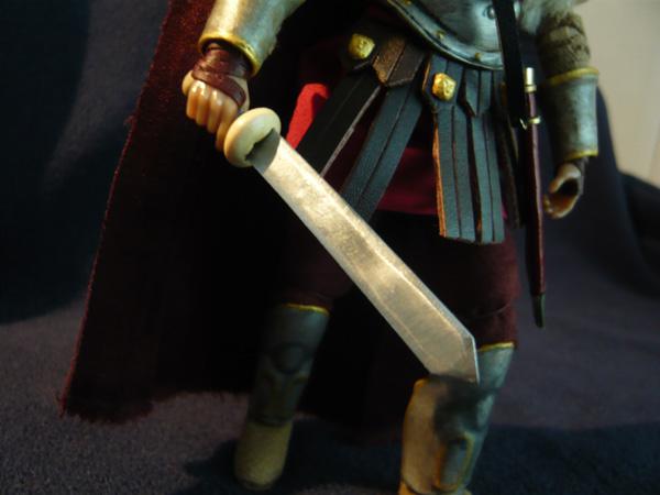 Madelman custom - General Romano - Detalle del gladius