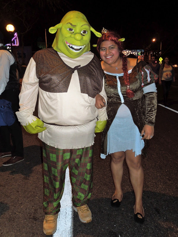Shrek costumes West Hollywood Halloween Carnaval