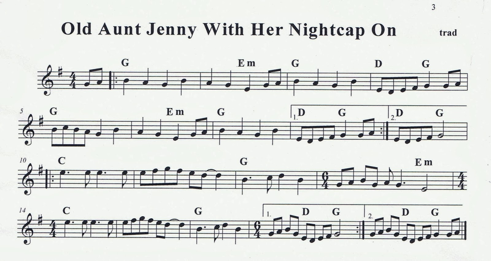 Six water grog old aunt jenny with her nightcap on played slow old aunt jenny with her nightcap on played slow with sheet music notation transcription biocorpaavc Image collections