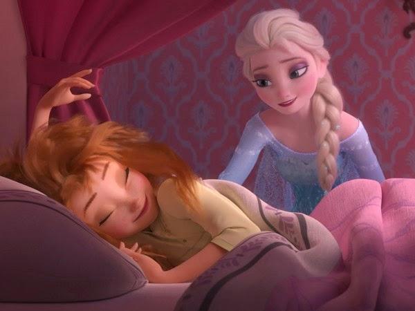 Ana y Elsa en Frozen Fever