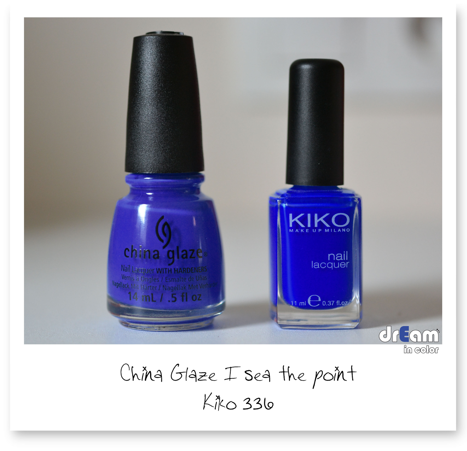 China Glaze I sea the point comparaison