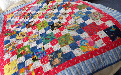 I spy a 4 patch scrappy quilt