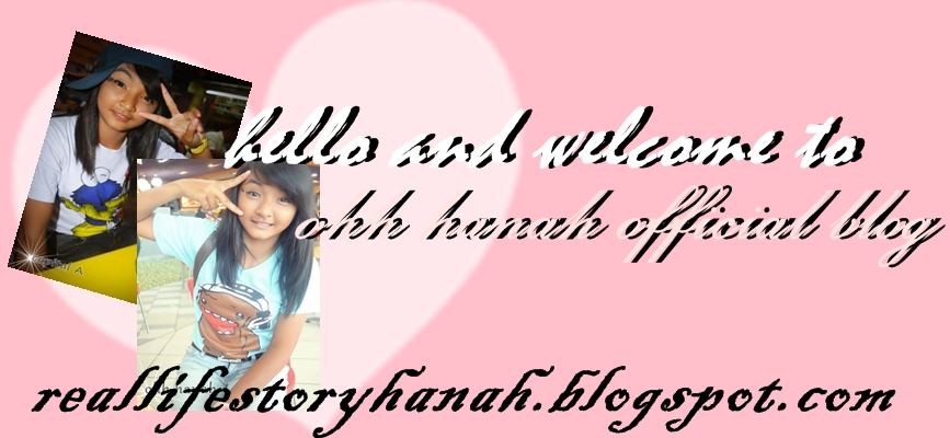 ♥ Ohh Hanah Blogger ♥