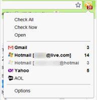 notifica messaggi non letti Webmail