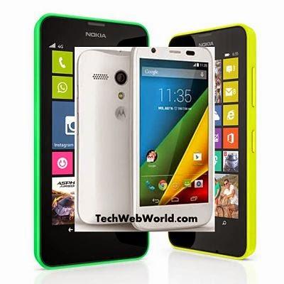 Lumia 635 Moto G