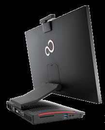 подставка и порты на ней у Fujitsu ESPRIMO X923