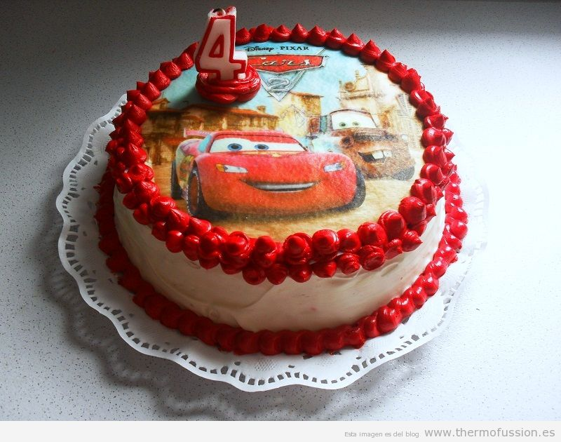 Birthday Cake of Cars
