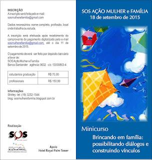 Minicurso do Recriando Vínculos, do SOS Ação Mulher e Família