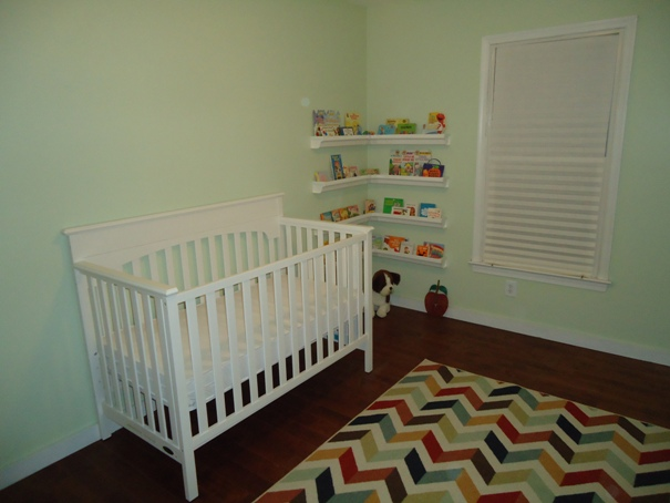 The white nursery crib