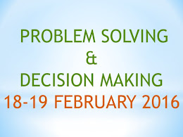 4. Problem solving & Decision making