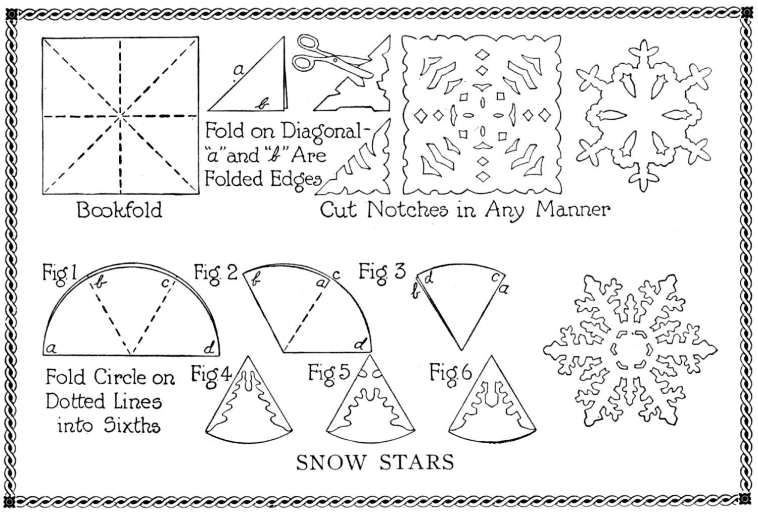 Snowflake Stencil printable designs for children and non-profit or