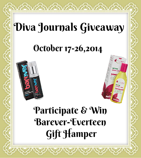 Diva Journals presents Barever-Everteen Giveaway