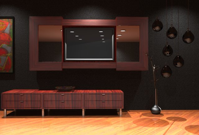 Lcd Tv Stand Designs Wooden : Lcd tv cabinet furniture designs an interior design