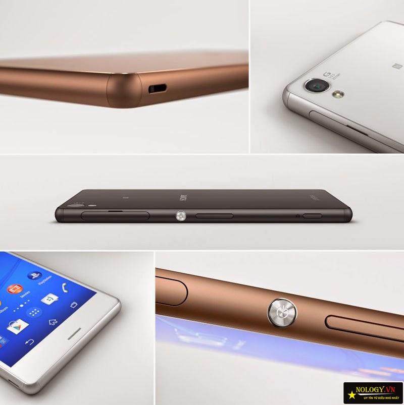 Thiết kế của Sony Xperia Z3 Nhật Bản