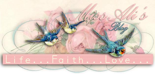 Miss Ali's Blog