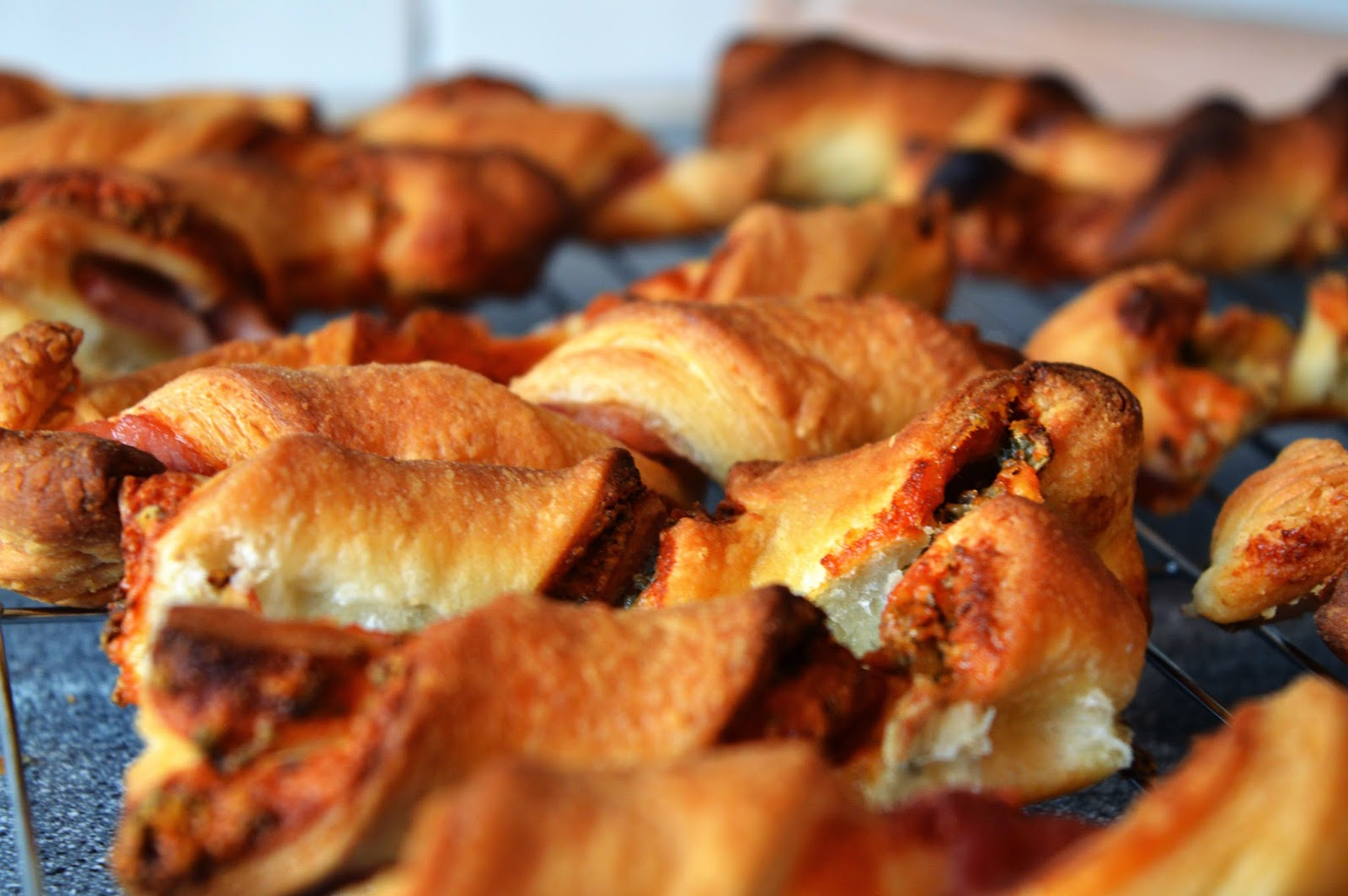 Blue cheese and bacon twists recipe