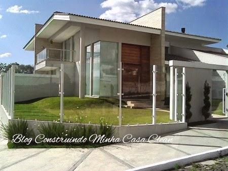 Construindo minha casa clean projeto da minha fachada com muros e - Construindo Minha Casa Clean Fachadas De Casas Com Muros