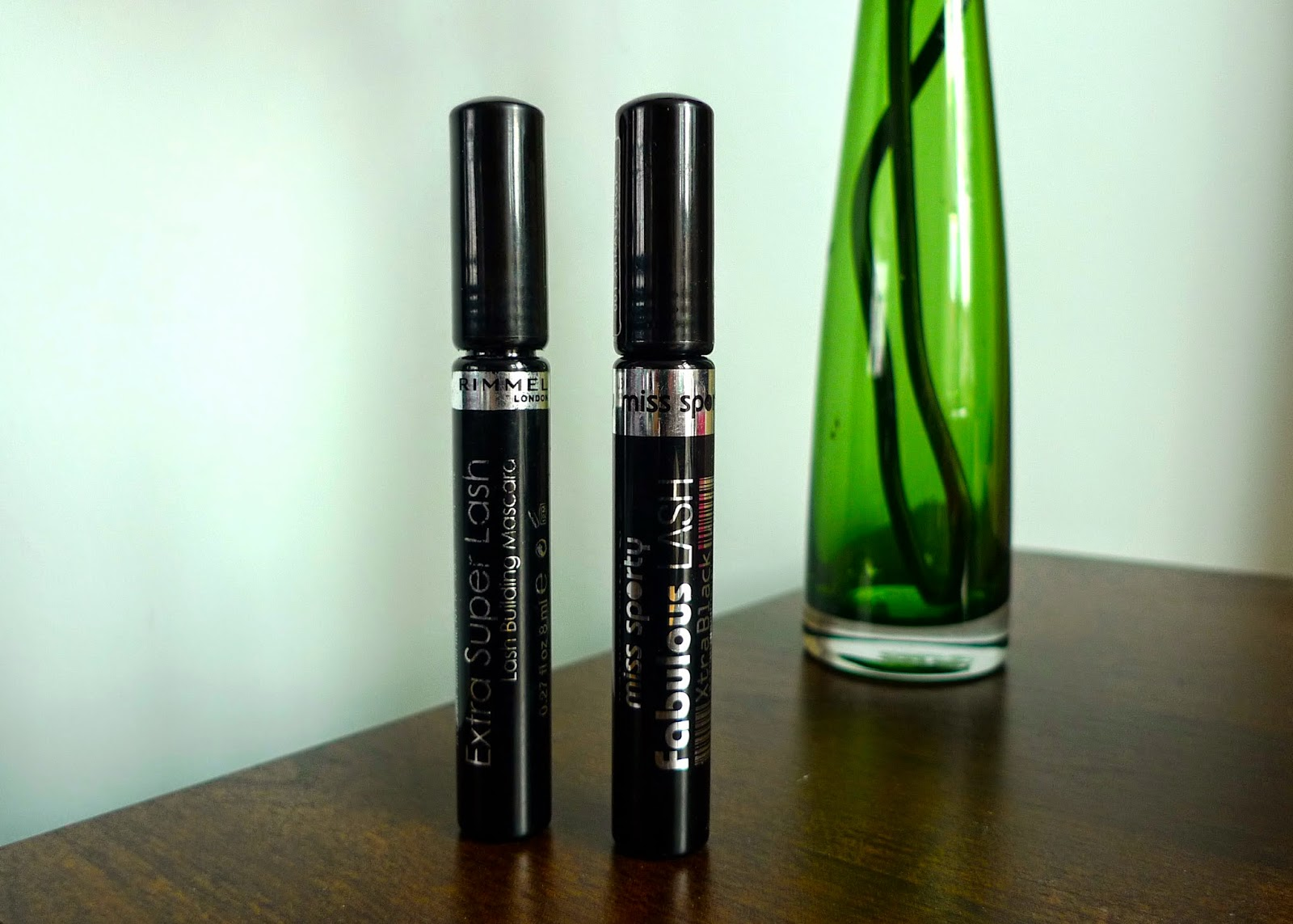 A review and comparison of Miss Sporty Fabulous Lash Mascara and Rimmel's Super Lash Mascara