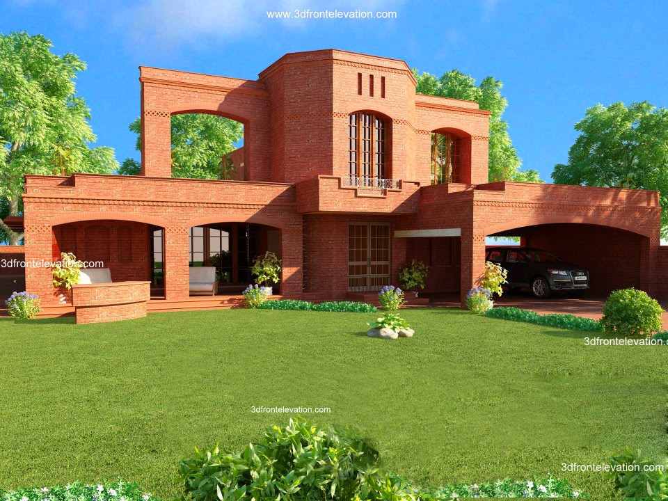Front Elevation Of 6 Marla House : D front elevation wapda town marla