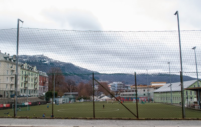 picture of mini football field in a residential area