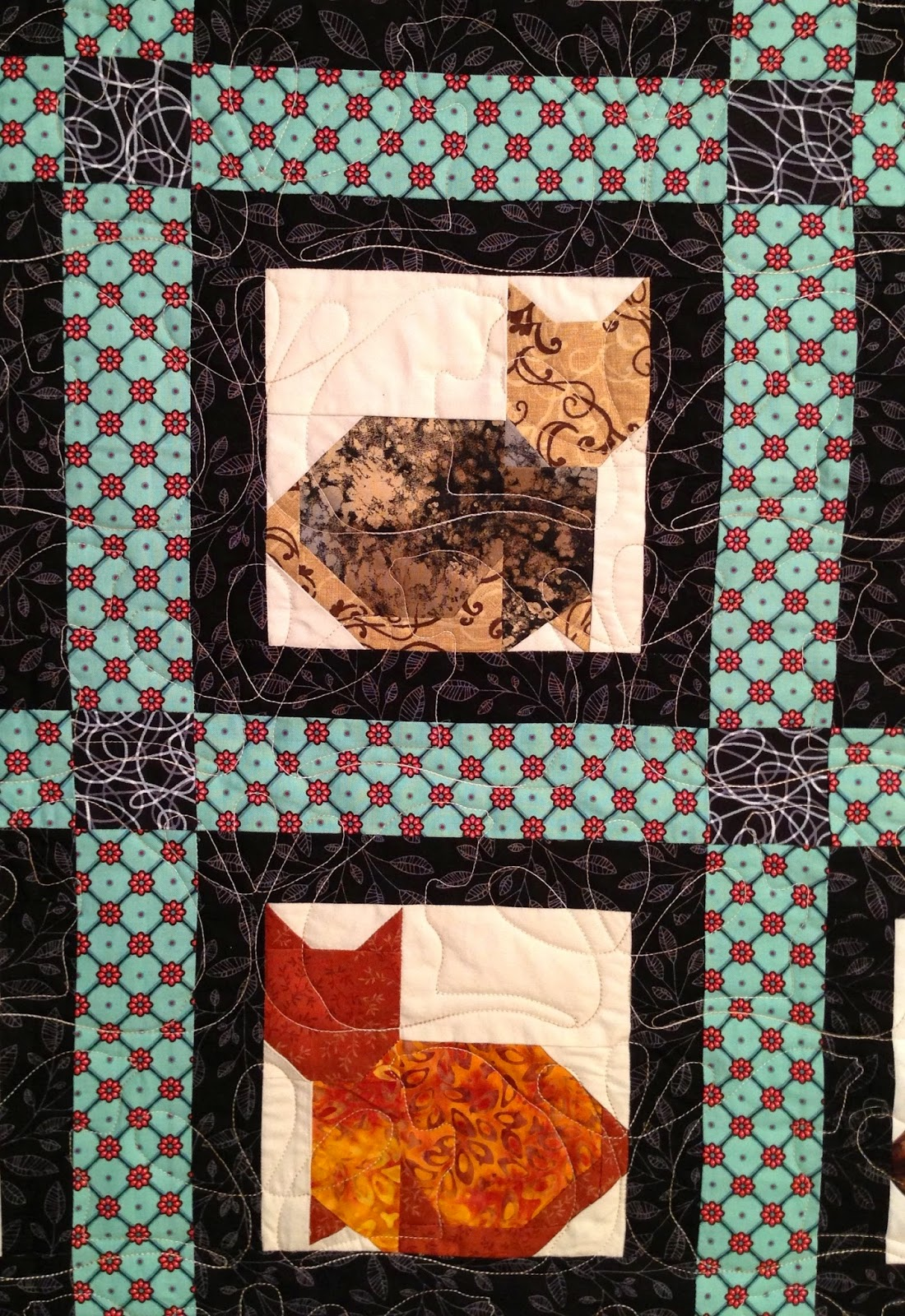 Pearl Combs's Many Cats Quilt