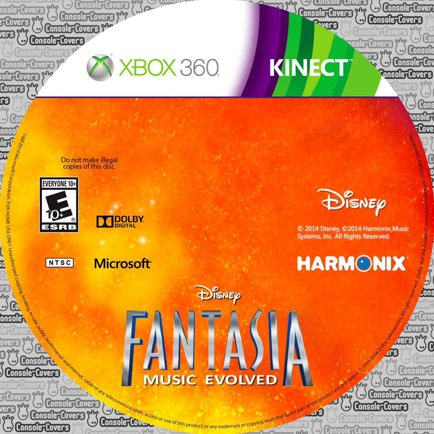 Label Fantasia Music Evolved Xbox 360
