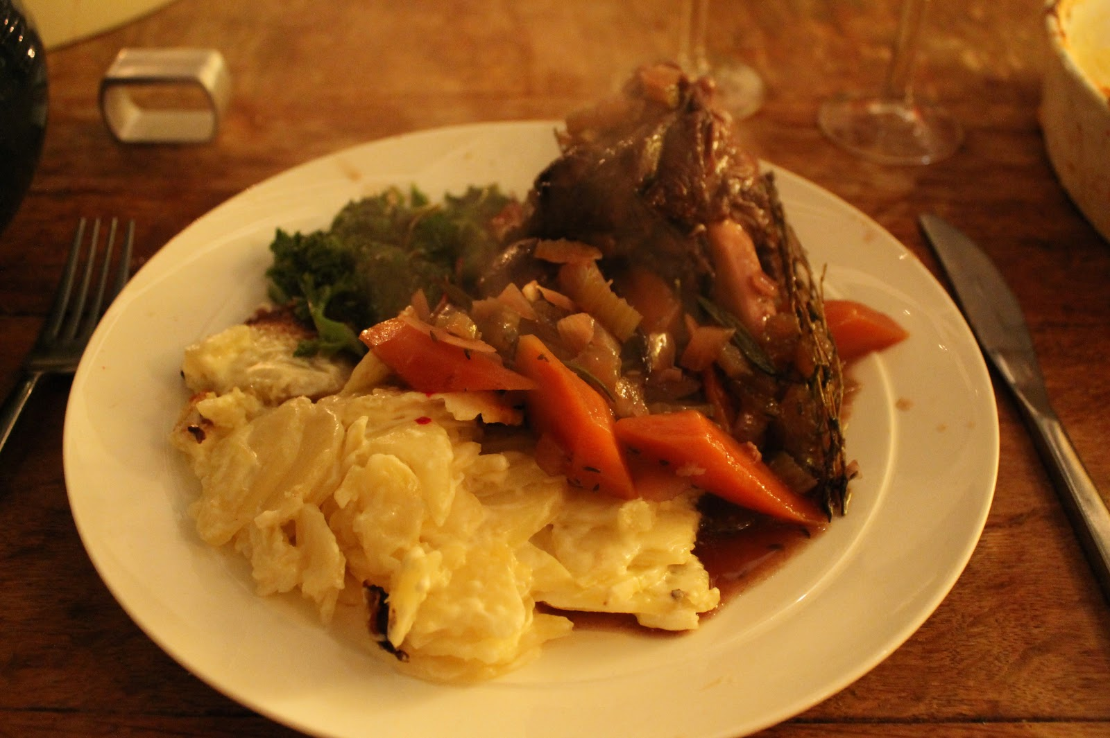 Lamb shanks with dauphinoise and roasted beetroot. | Gary's Grub