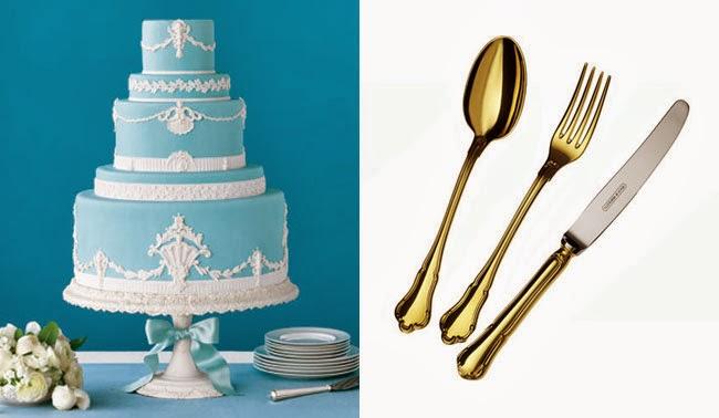baroque cake, baroque cutlery