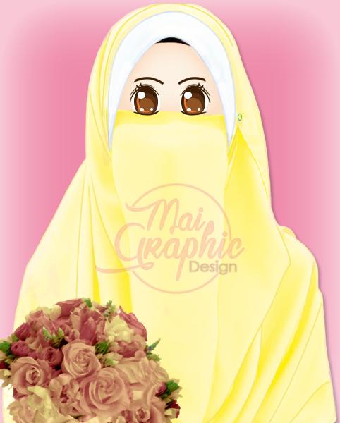 doodle muslimah, doodle cantik, doodle comel