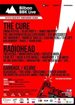 Cartel completo y horarios del Bilbao BBK Live Festival