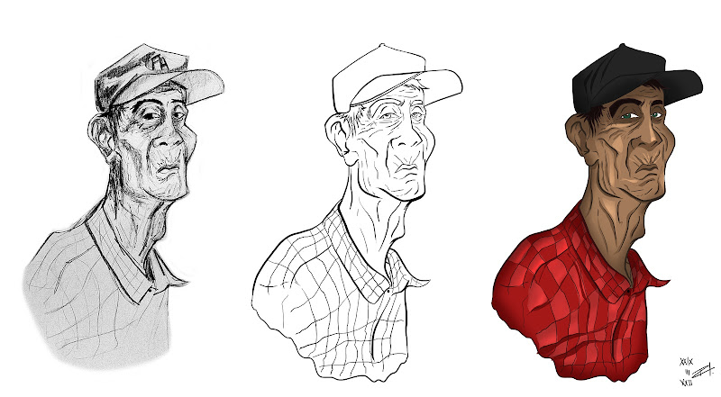 to the subject Tired Old Men. I'm now coloring each one of them title=