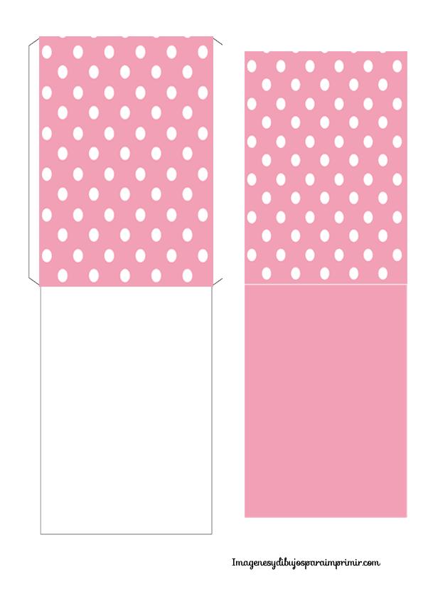 Sobre y tarjeta en rosa celeste