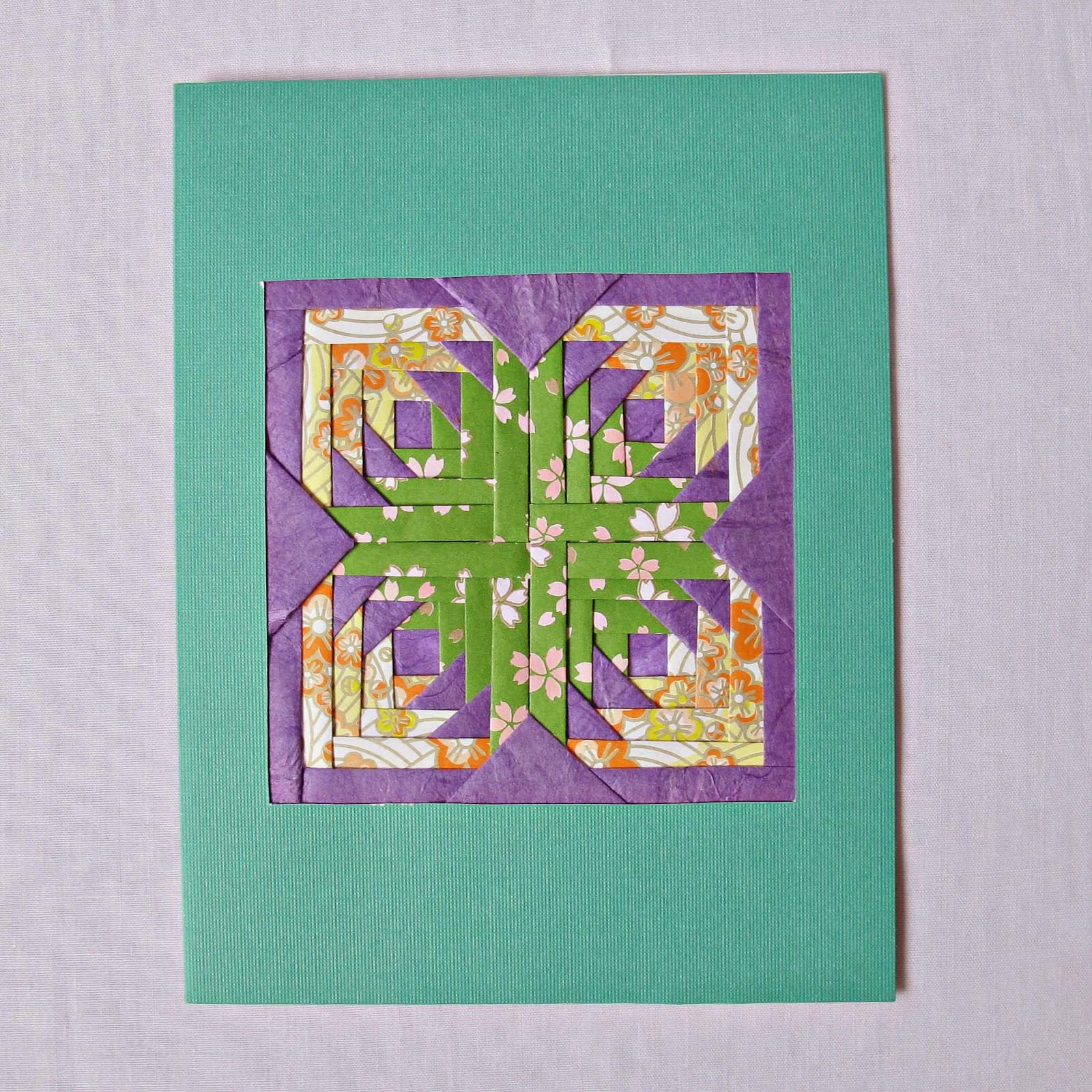 image iris folding greeting card pineapple flower quilt block
