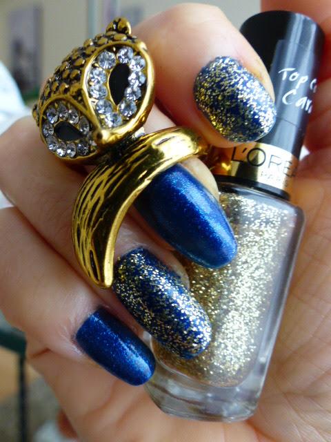 Dark Navy Blue, Saphyr Lurex + Gold Carat