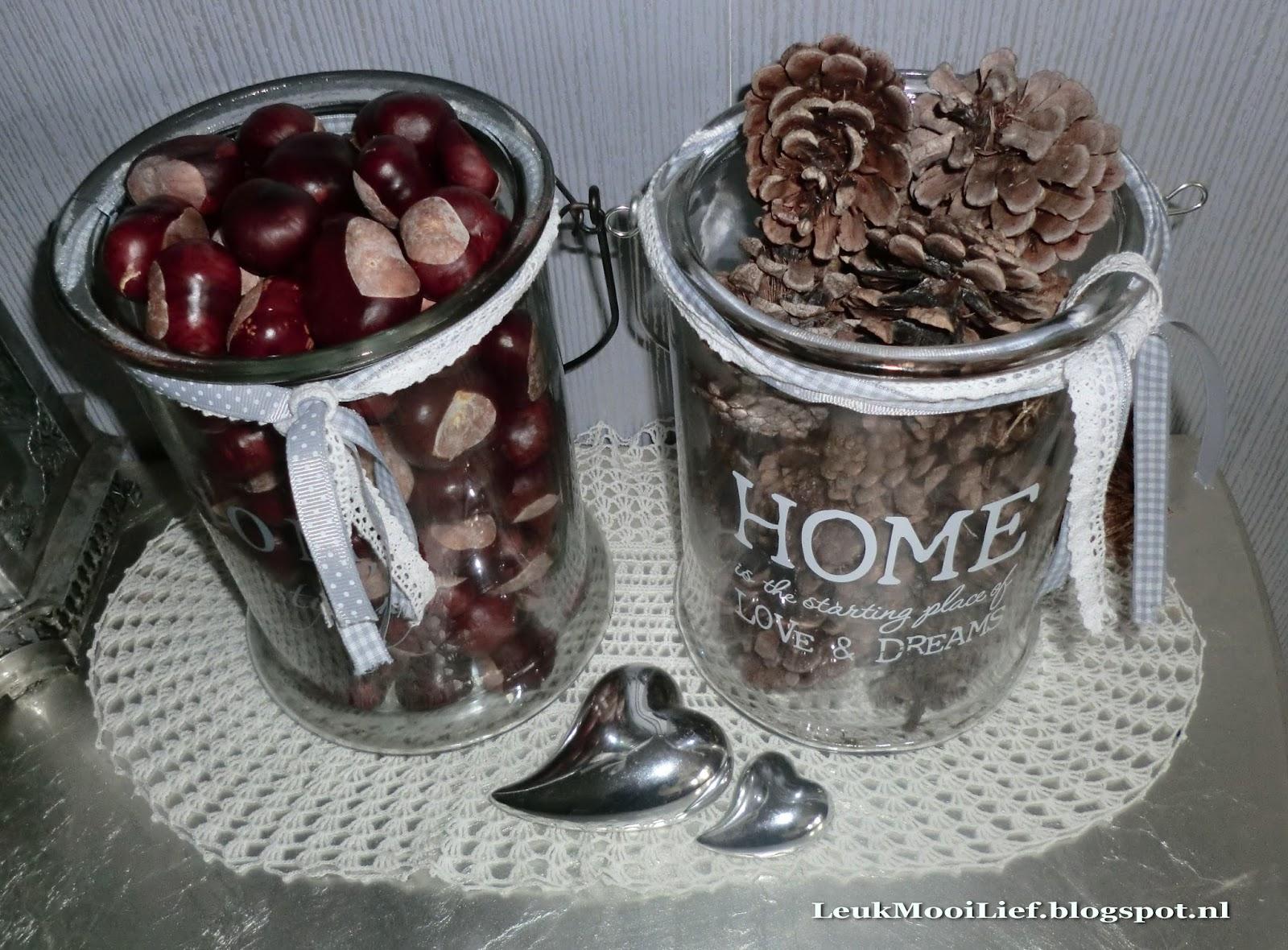Leuk mooi lief herfst in huis