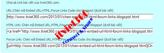 thu thuat blogspot, embed URL Forum HTML code for blogspot post