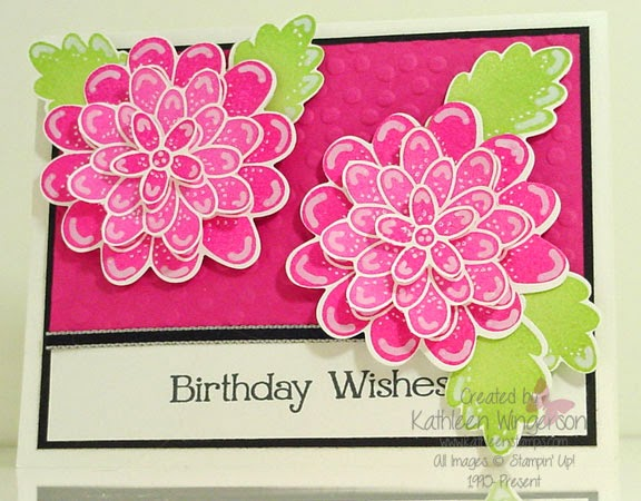 kathleenstamps flower patch birthday card and how to video, Birthday card